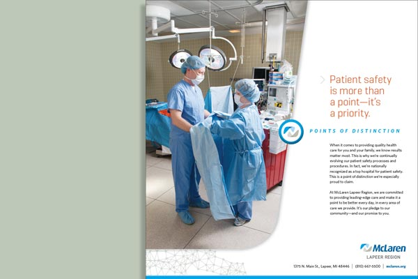 Points of Distinction Patient Care/Safety Print Ad